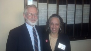 Danielle Laraque, MD District Chair and Assemblyman Richard Gottfried, Chair of the Assembly Health Committee at the District's Annual Advocacy Day in Albany March 19, 2013.